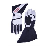 RACEQUIP/SAFEQUIP Gloves Outseam Black/ Gray X-Large SFI-5 P/N - 359606