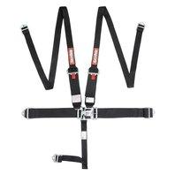 RACEQUIP/SAFEQUIP 5pt Harness Set HNR L&L Black Hans Style belts P/N - 717007