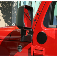 RUGGED RIDGE Mirror Relocation Bracke ts Black 07-18 Wrangler P/N - 11025.04