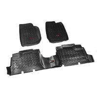 RUGGED RIDGE Floor Liner Kit Black 07-18 Jeep Wrangler JKU P/N -12987.01