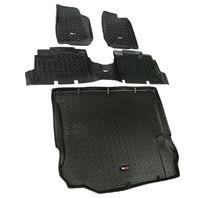 RUGGED RIDGE Floor Liner Kit Black 4 Door 11-18 Jeep Wrang P/N -12988.04