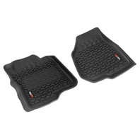 RUGGED RIDGE Floor Liners Front Black 12-16 Ford F-250/F-350 P/N -82902.3