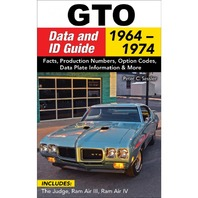 S-A BOOKS Pontiac GTO Data and ID Guide 1964-1974 P/N - CT603