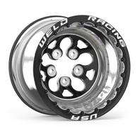 WELD RACING 15x12 Blk Alpha-1 Wheel 5x4.750BP 5in BS Blk DBL P/N - 83B-512280MBS