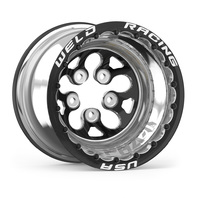 WELD RACING 15x14 Blk Alpha-1 Wheel 5x4.750BP 4in BS Blk DBL P/N - 83B-514278MBS