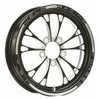 WELD RACING V-Series Frnt Drag Wheel Blk 15x3.5 5x4.5BC 1.75b P/N - 84B-15204