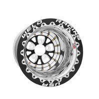 WELD RACING V-Series Drag Wheel Blk 15x14 5x4.75 BC 5.0 BS P/N - 84B-514280CB