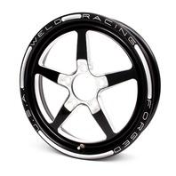 WELD RACING Aluma Star 15x3.5 Wheel 5x4.75 1.75 BS Black P/N - 88B-15274