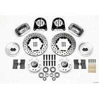 WILWOOD Front Disc Brake Kit Early Ford 37-48 Drilled P/N - 140-11013-DP