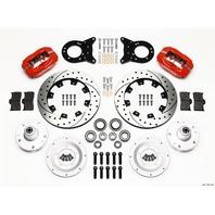 WILWOOD Front Disc Brake Kit Red HD 65-69 Mustang P/N - 140-11072-DR