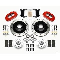 WILWOOD Front Disc Brake Kit Red 67-72 Camaro Nova 12.88 P/N - 140-12271-DR