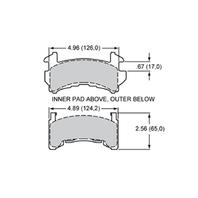 WILWOOD E Type Brake Pad Metric GM P/N - 15E-6103K