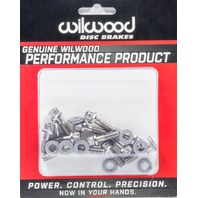 WILWOOD Rotor Bolt Kit Stainless Hat/Rotor Set of 12 P/N - 230-8008