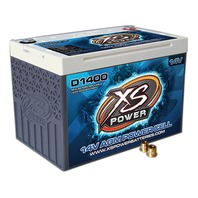 XS POWER BATTERY AGM Battery 14v 2 Post  P/N - D1400