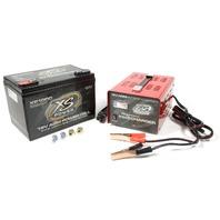 XS POWER BATTERY AGM Battery 16V 2 Post w/15A IntelliCharger P/N - XP1000CK2