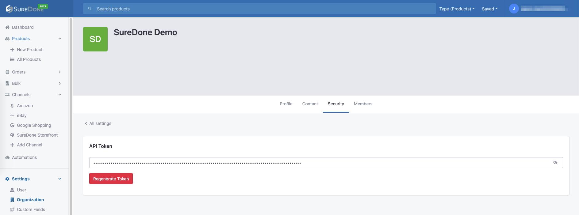 UI API tokens