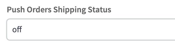 SkuVault Shipping Status