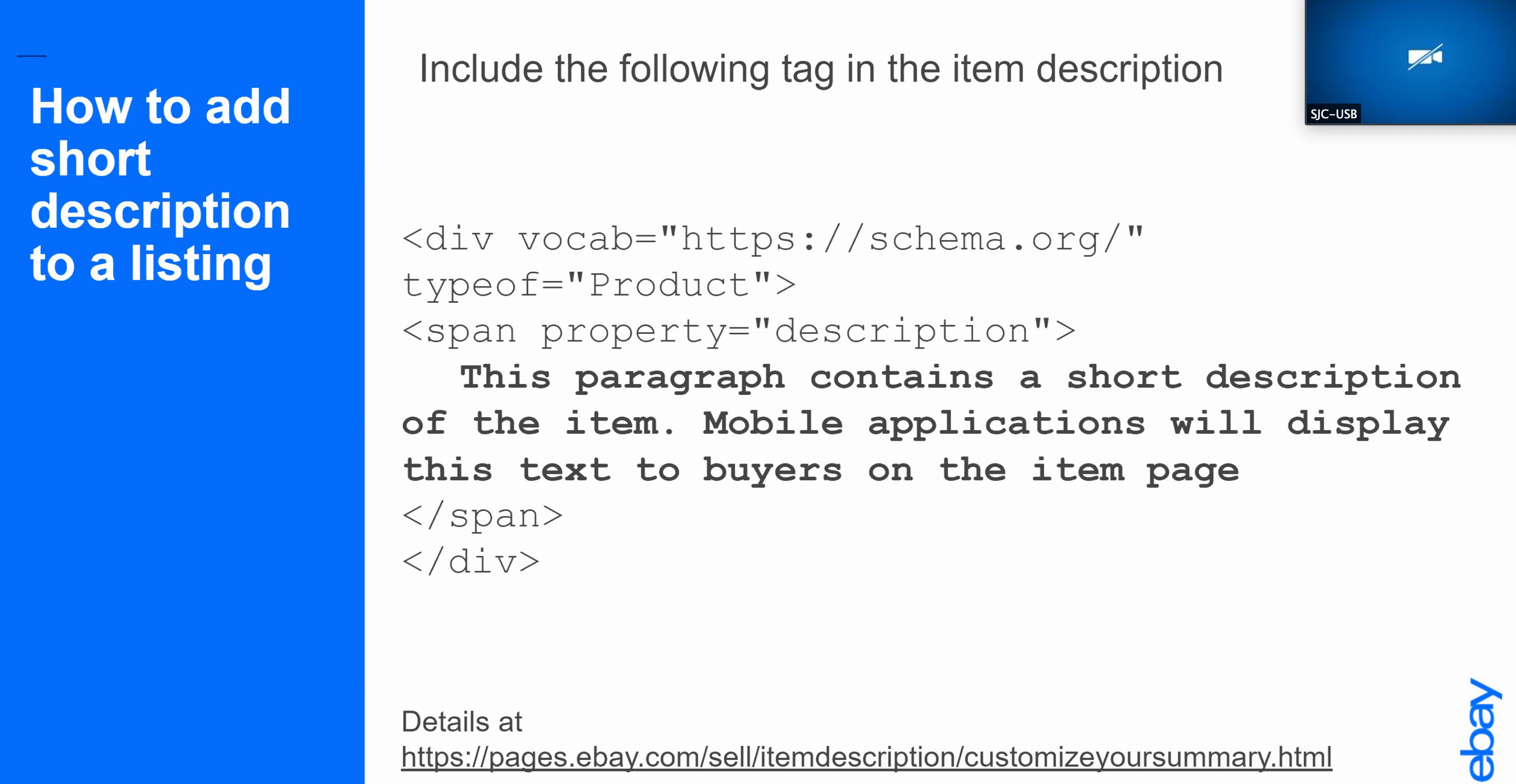 eBay template description markup