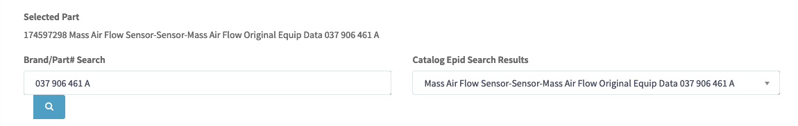 eBay Motors Catalog Search