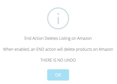 Amazon delete listings