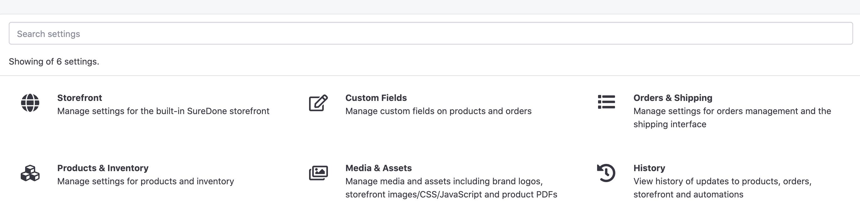 User Interface Settings