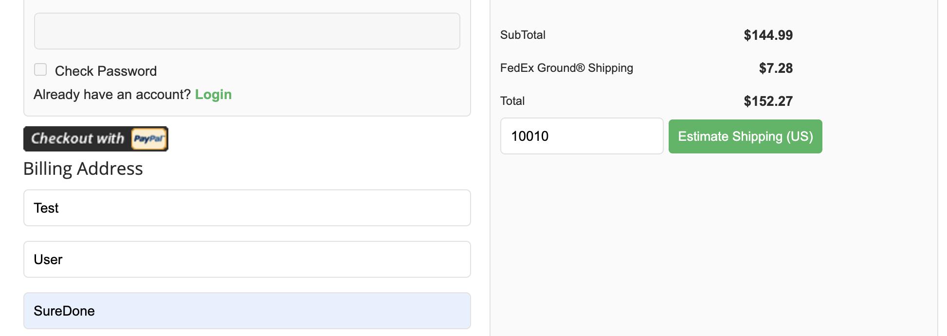 Storefront FedEx Ground