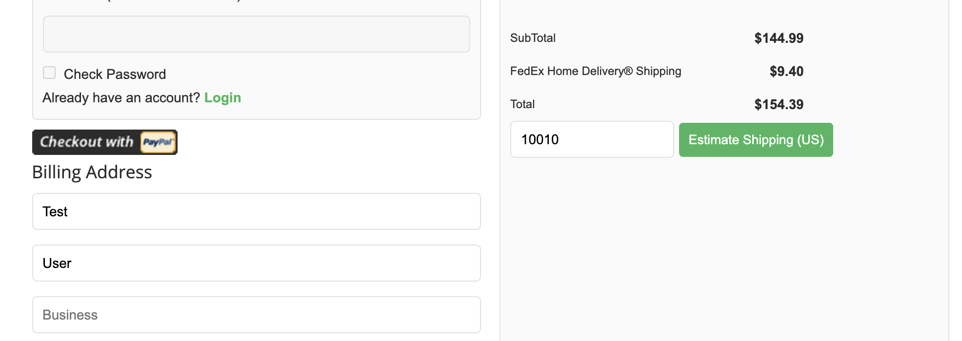 Storefront FedEx Home Delivery
