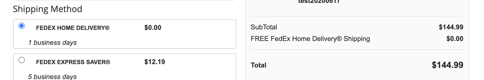 Storefront free shipping